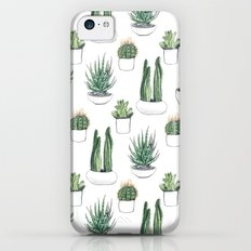 watercolour cacti and succulent Slim Case iPhone 5c