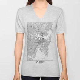 Sydney White Map Unisex V-Neck
