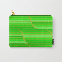Geo Stripes - Green Carry-All Pouch
