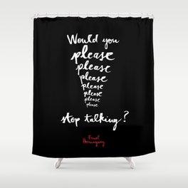 Please-Black  Shower Curtain