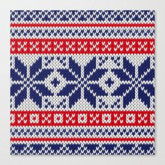 Winter knitted pattern 7 Canvas Print