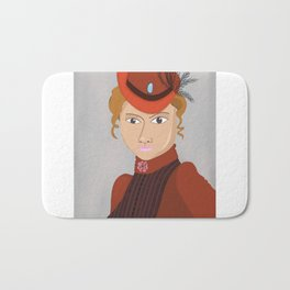 Lady in a Victorian Hat Bath Mat
