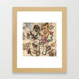 Constellation Chart 1693e Framed Art Print