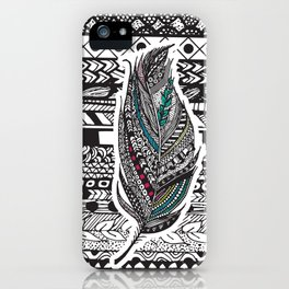 Aztec Feather. iPhone Case