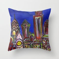 Philly Skyline LOVE Throw Pillow