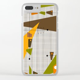 Explosion Of Rectangles Clear iPhone Case
