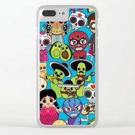 Latinx Pop Culture Clear iPhone Case