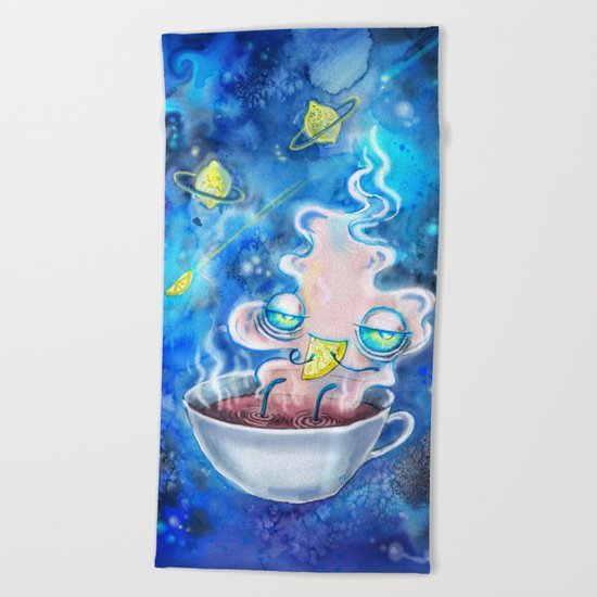tea and the lemon universe Beach Towel