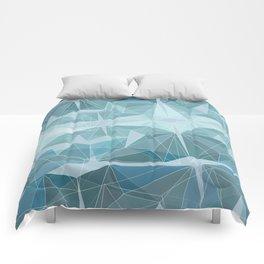 Winter geometric style - minimalist Comforters