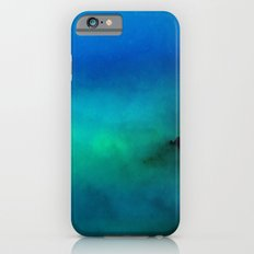 Fog Forest Mountain - Blue Northern Lights Slim Case iPhone 6s