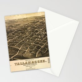 Aerial View of Tallahassee, Florida (1885) Stationery Cards