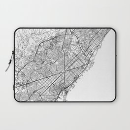 Barcelona White Map Laptop Sleeve