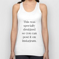 instagram Tank Tops featuring Instagram by Max Croissant