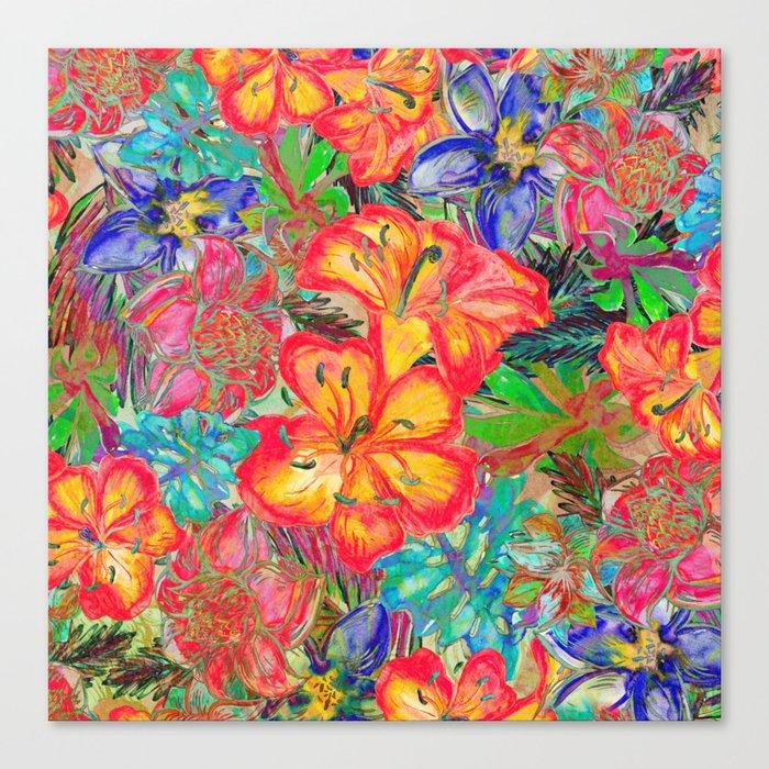 My Tropical Garden 6 Canvas Print