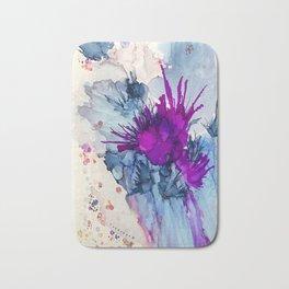 Flowers Abound Abstract Bath Mat