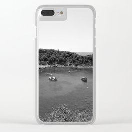 Rhodes Greece Anthony Quinn Bay black white Clear iPhone Case