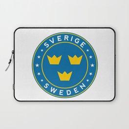 Sweden, Sverige, 3 crowns, circle Laptop Sleeve