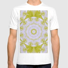 Green and white quilt kaleidoscope MEDIUM White Mens Fitted Tee