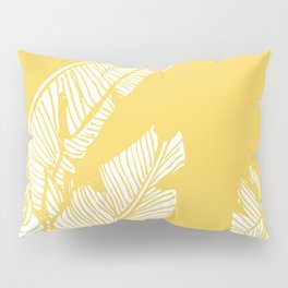 Banana Leaves on Yellow #society6 #decor #buyart Pillow Sham