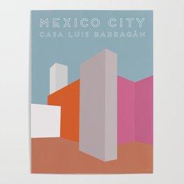Mexico City, Casa Luis Barragán Travel Poster Poster