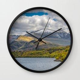 Snowdon from Padarn Lake Llanberis Wall Clock