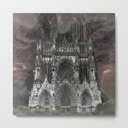 Cathedral Storm Metal Print