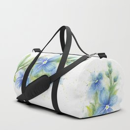 Veronica, Floral Watercolor Duffle Bag