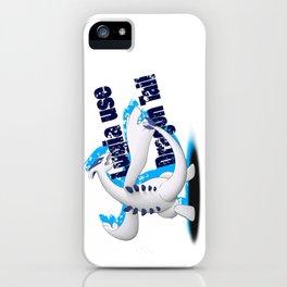 Lugia use Dragon Tail - white vrs. iPhone Case