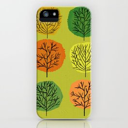 Tidy Trees All In Pretty Rows iPhone Case