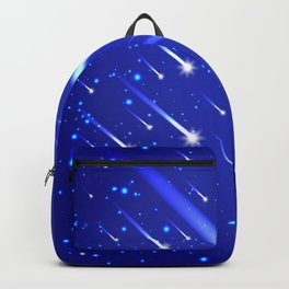 Space background with stars and comets Backpack