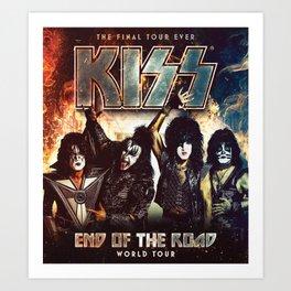 kiss band roud of tour Art Print