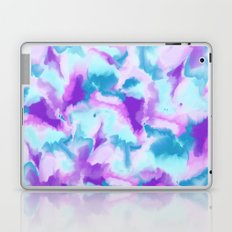 Abstract turquoise purple hand painted watercolor Laptop & iPad Skin