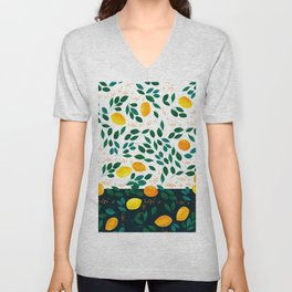 Lemon Orange Unisex V-Neck