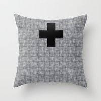 cross Throw Pillows featuring Cross by SuzanneCarter