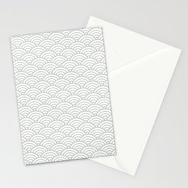 Gray Grey Mermaid Scales Sea Salt Stationery Cards
