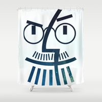 steve jobs Shower Curtains featuring Jobs by Alejo Malia