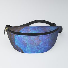 Night Ocean Glowing Waves - Bioluminescent Plankton Fanny Pack