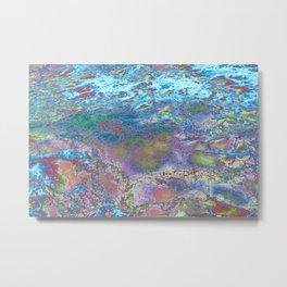 Psychedelic Ocean Water 2 -  Rainbow Metal Print