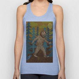 Bigfoot birthday card Unisex Tank Top