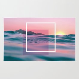Purple And Pink Ocean Art Rug