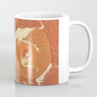 foxes Mugs featuring Foxes by Beesants