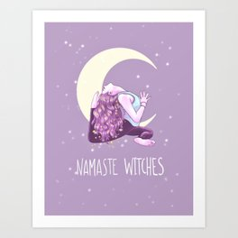 Namaste Witches, Mermaid Yogini, Yoga, Weronika Salach Art Print