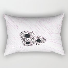flower with pink background Rectangular Pillow