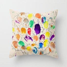Fingerprints  Throw Pillow