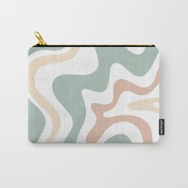 Liquid Swirl Abstract Pattern in Celadon Sage Carry-All Pouch