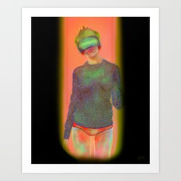 Future Slice | Cyber Punk, Cyber Goth, Future, Futuristic, Virtual Reality Art Print