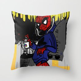 Spidey Can Throw Pillow