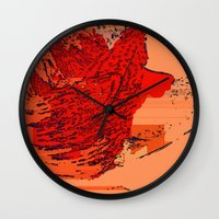 lion king Wall Clocks featuring Lion King by Avigur