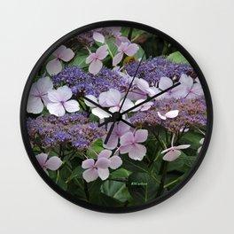Hydrangea Violet Hues Wall Clock