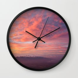 Haleakala Summit Sunset Wall Clock
